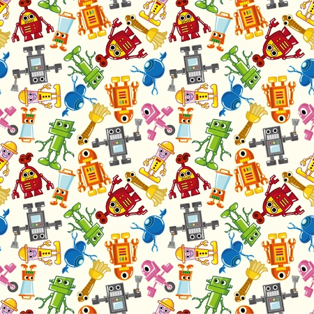 pattern monster: seamless robot pattern