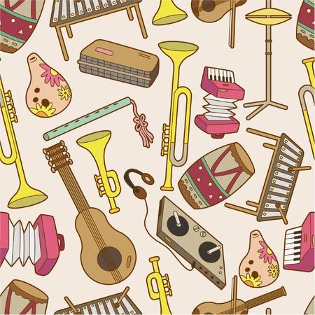 seamless music pattern Stock Vector - 8523357