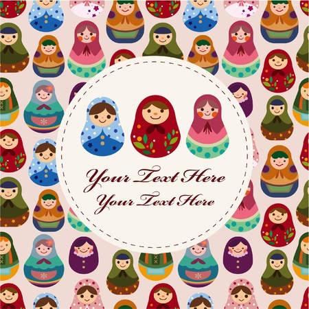 Russian doll card Stock Vector - 8523358