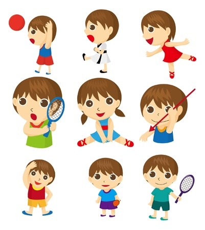 cartoon sport people  Vector