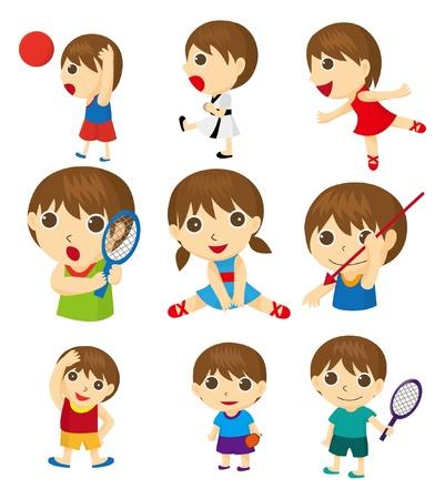 gimnasia: deportistas de dibujos animados