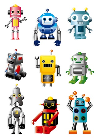 cartoon robots  Vector