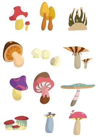 fungi: cartoon mushroom
