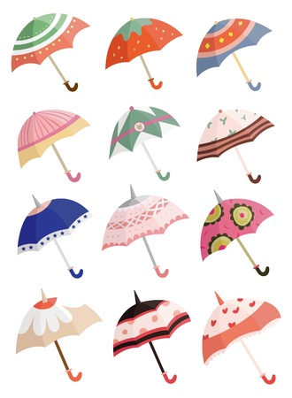 cartoon umbrella Stock Vector - 8545584