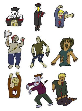 cartoon zombies Stock Vector - 8545625