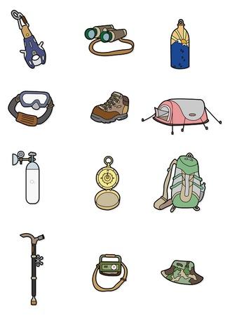 cartoon Climbing equipment icon Vector