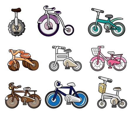 alloy wheel: cartoon bicycle  Illustration