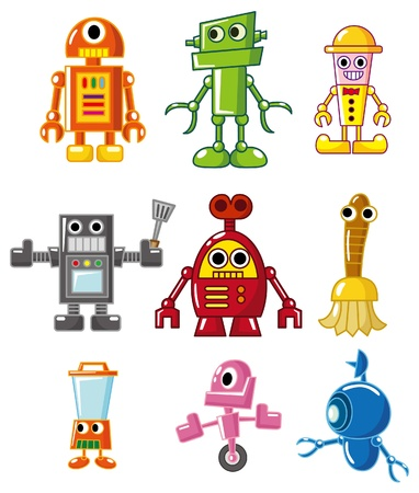 cartoon robot Stock Vector - 8545618