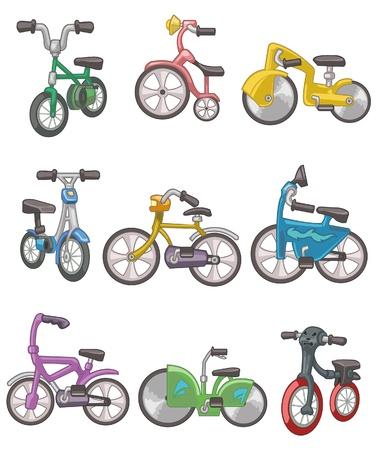 motor bikes: cartoon bicycle  Illustration