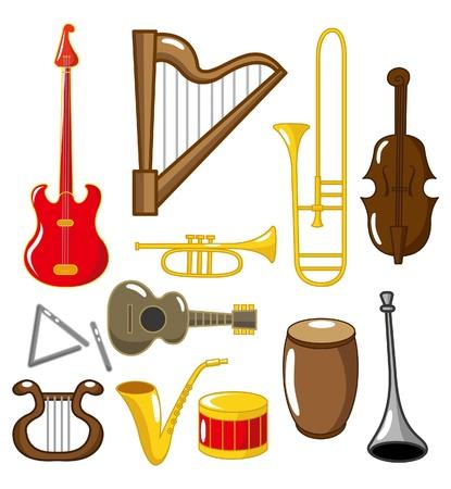 instruments de musique: caricature des instruments de musique