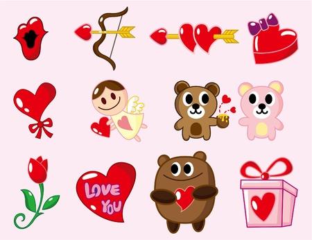 amor: Cartoon Valentinstag  Illustration