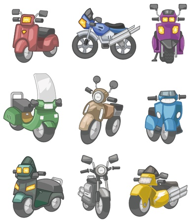 cartoon motorcycle  Stock Vector - 8545568