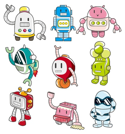 space program: cartoon robot