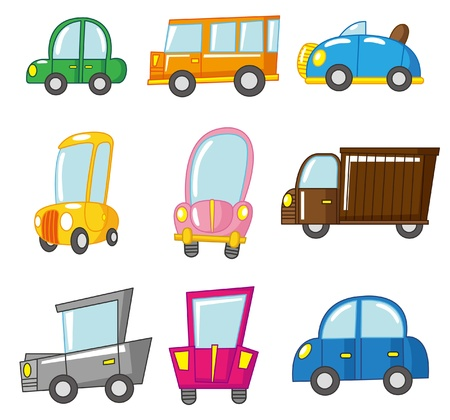 cartoon car: coche de dibujos animados  Vectores