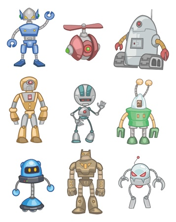 machinery space: cartoon robot