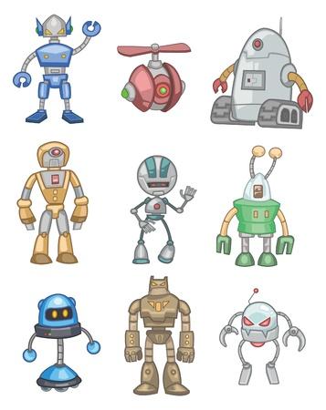 robot caricatura: robot de dibujos animados