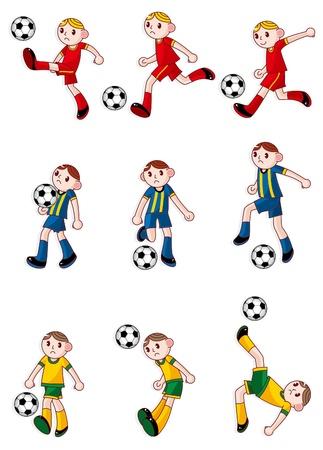 soccer kick: cartoon Football player icon