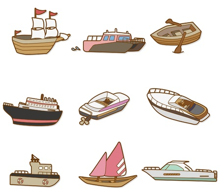 bateau: bateau de dessin anim�  Illustration