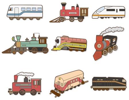 locomotora: Tren de dibujos animados  Vectores