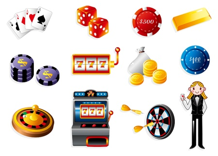 dice: cartoon casino icon Illustration