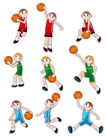 jump shot: cartoon basketball player icon