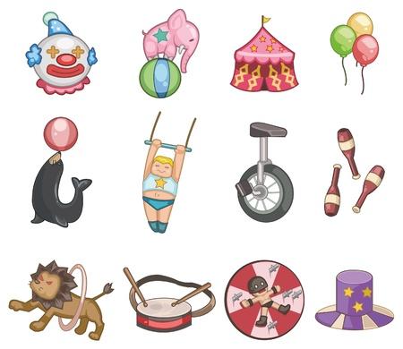 juggling: icono de circo de dibujos animados Vectores