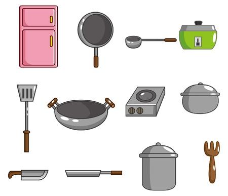saucepan: cartoon kitchen tool icon