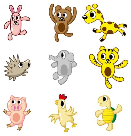 cartoon animal icon Vector
