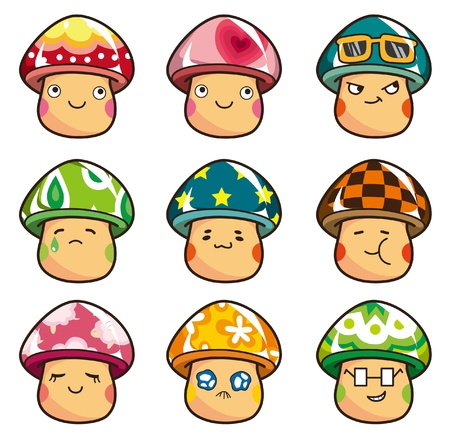 cartoon Mushrooms icon Stock Vector - 8545629