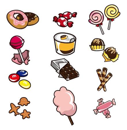 beignet: ic�ne de candy Cartoon Illustration