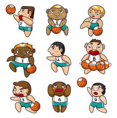 cartoon basketball player icon Vector