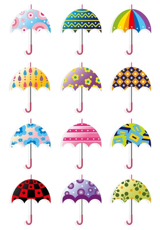 cartoon Umbrellas icon Vector