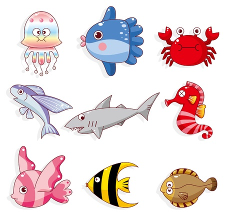 flounder: cartoon fish icon