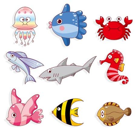 flounder: cartoon fish icon