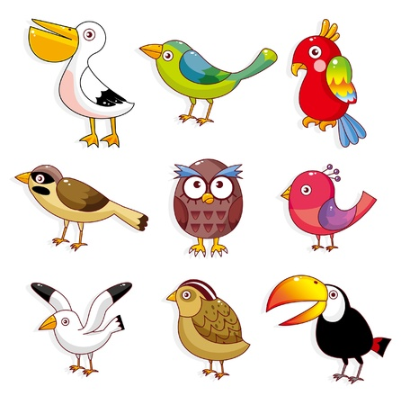 oiseau dessin: Cartoon oiseaux ic�ne Illustration