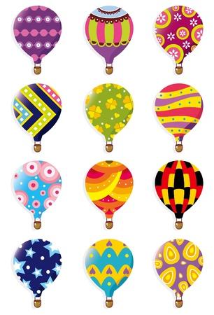 air vehicle: cartoon Hot air balloon icon Illustration
