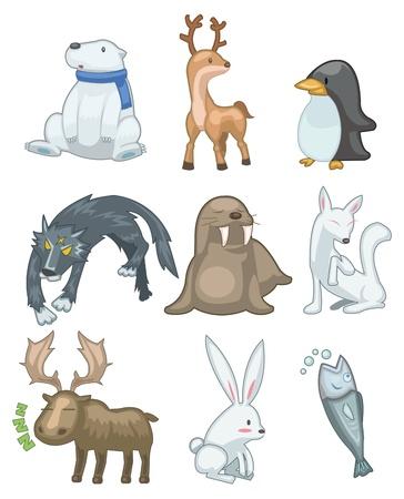 cartoon animal icon Vector