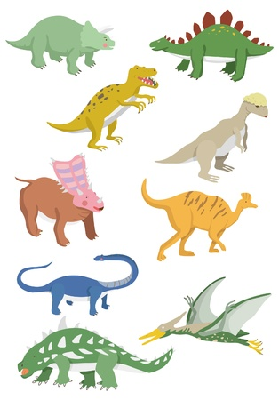Cartoon dinosaure icône Vecteurs
