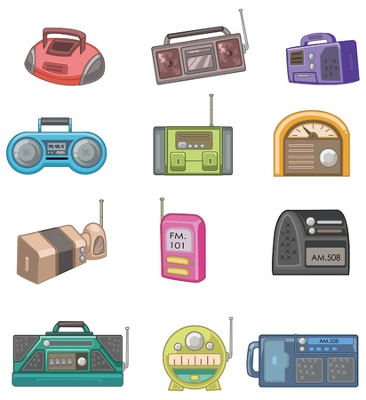 Cartoon radio pictogram Stock Illustratie