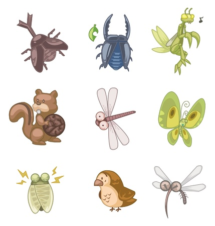 mosquitoes: cartoon summer animal icon Illustration