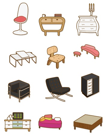 cartoon Furniture icon Vector