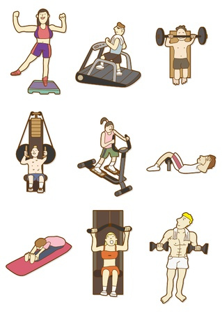 weight machine: cartoon Fitness icon