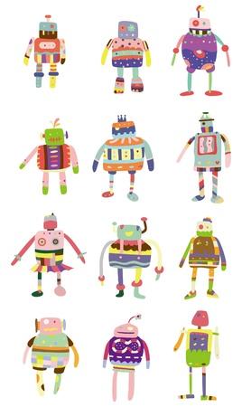 cartoon colorful robot icon Vector