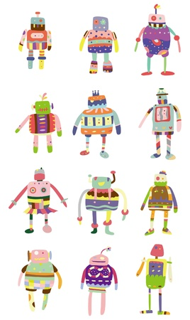 pattern monster: cartoon colorful robot icon