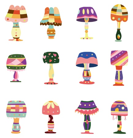 home icon: cartoon colorful lamp icon
