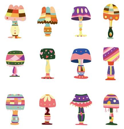 furniture idea: cartoon colorful lamp icon