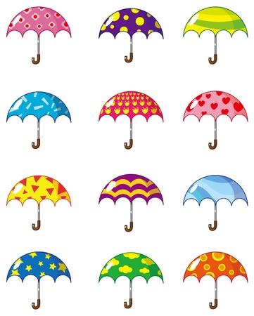 cartoon umbrellas icon Vector