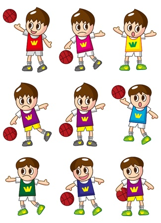 sports jersey: cartoon basketball player icon