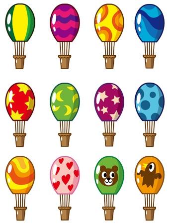 cartoon Hot air balloon icon Vector
