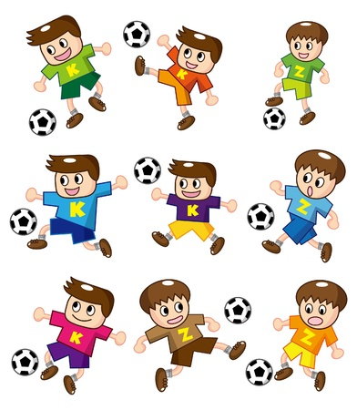 practices: cartoon soccer icon
